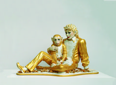 """Jeff Koons """"Micheal Jackson and Bubbles"""", 1988"""