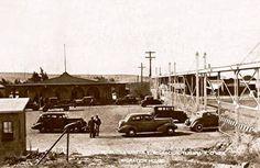 1938 El cruce fronterizo Tijuana, Mex. y San isidro, EEUU. que después se convertiría en la frontera má transitada del mundo