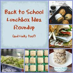 Back to School Lunchbox Ideas & Linky Party