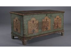 Paint Decorated Blanket Chest, Early 19th c.