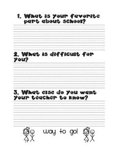 Students Self-Reflection before Parent-Teacher conference and/or report cards.  Interesting.