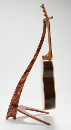 Handcrafted Custom WM Cocobolo Guitar Stand by on Etsy Wooden Guitar Stand, Guitar Storage, Guitar Hanger, Music Stand, Instruments, Cigar Box Guitar, Guitar Accessories, Guitar Building, Wood Creations