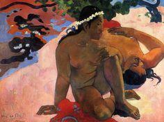 """Paul Gaugin """"Are you jealous?"""" 1892 Oil on canvas, Punshkin Museum of Fine Arts, Moscow"""