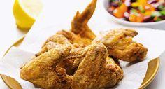 Asas de frango fritas à Mexicana