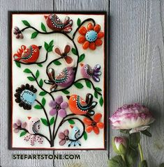 *MADE TO ORDER*- By StefArt Stone S.A.S If you want this piece of art i will made it for 3-5 days. You are wellcome :) Unique birds wall art ✔ made of pebbles beautiful variety of pastel color. A great gift for new home house warming gift or for any bird lover. Suitable for nursery,