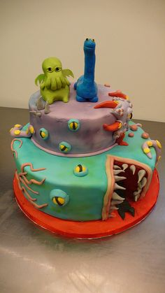 H.P. Lovecraft Cake by CAKE Amsterdam - Cakes by ZOBOT, via Flickr
