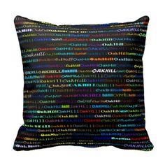 Oak Hill Text Design I Throw Pillow