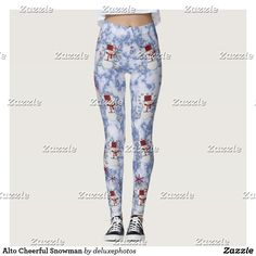 Alto Cheerful Snowman Leggings