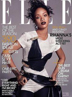 US Elle December 2014 Rihanna