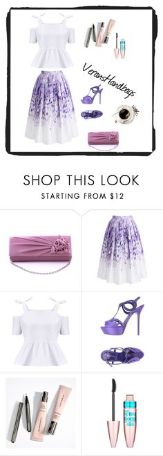 """""""VeransHandbags 10"""" by zerina913 ❤ liked on Polyvore featuring Chicwish, Miss Selfridge, Sergio Rossi and Maybelline"""