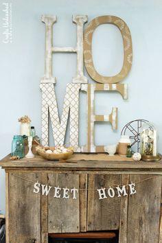 Home Art Tutorial: Extra Large DIY Letter Decor