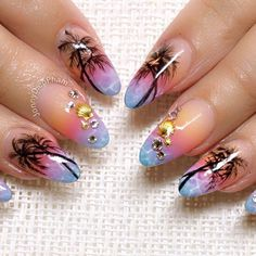 Salon Nails for Teena beach theme using the amazing cover pink from Nail…