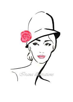 fashion illustration printfashion by IvanaIllustrations on Etsy