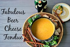 Fabulous Beer Cheese Fondue Recipe Beer Cheese Fondue is the perfect party food. It's an easy recipe loaded with melted cheese and perfect for dipping breads, veggies and more. Fondue Recipes, Beer Recipes, Gourmet Recipes, Appetizer Recipes, Kabob Recipes, Gourmet Foods, Copycat Recipes, Crockpot Recipes, Recipies