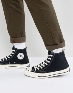 Buy Converse Chuck Taylor All Star Hi plimsolls in black at ASOS. Get the latest trends with ASOS now. Sneakers Mode, Sneakers For Sale, Casual Sneakers, Leather Sneakers, Sneakers Fashion, High Top Sneakers, Men's Leather, Work Sneakers, Men Boots