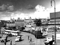 """Oslo Jernbanelinjen over Rådhusplassen mellom Østbanen og Vestbanen (på folkemunne """"Malern"""") 1950-tallet"""