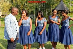 African Traditional Wedding, Traditional Wedding Dresses, African Attire, African Dress, Wedding Bridesmaids, Bridesmaid Dresses, Shweshwe Dresses, Celebrity Weddings, Fans