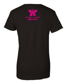 Women's Fantasy Football T-Shirt - Breast Cancer Awareness (Back View). When you purchase the Wally D. Fantasy Football Breast Cancer Awareness T-Shirt, we will be donating a portion of every sale to Bright Pink.   NFL Players wear PINK every October. Now Fantasy Football fans can join in to support the cause!