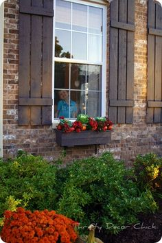 shutters and window box
