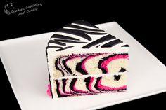 bolo com estampa de zebra