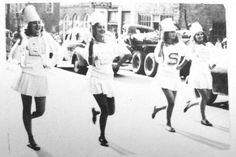 Springville High School parade on Main Street in 1950.