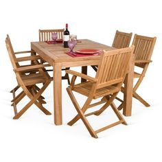 Check out this item at One Kings Lane! Budapest 7-pc Teak Dining Set