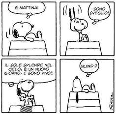 Quindi è #venerdì! Buona giornata a tutti. #Snoopy #Peanuts