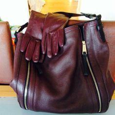 Rich Burgundy by Linda Personal Taste, February, Burgundy, Leather, Bags, Style, Fashion, Handbags, Swag