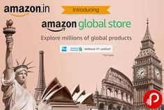 Amazon #GlobalStore brings Millions of Global Products including Clothing & accesorries, Watches, Books, Electronic & Accessories, Shoes, Sports & Fitness, Home & Kitchen, Office Supplies & Many More.  http://www.paisebachaoindia.com/amazon-global-store-millions-of-global-products-amazon/