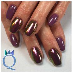 #coffinnails #gelnails #nails #plum #chameleon #chrome #ballerinaform #gelnägel #nägel #pflaume #chamäleon #chrom #nagelstudio #möhlin #nailqueen_janine