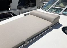 View Our Best Boat Bedding Package Examples & Fabric Choices Boat Bed, Boat Upholstery, Sea Ray Boat, Small Yachts, Buy A Boat, Boat Decor, Sport Boats, Boat Seats, Fast Boats
