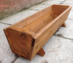 Large Wooden Planter by Ruddings Wood for sale online Wooden Trough Planters, Wooden Planter Boxes, Cedar Planters, Wood Planter Box, Garden Planters, Long Planter Boxes, Large Backyard Landscaping, Wood For Sale, Timber Wood