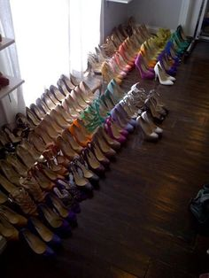 A GIRL CAN NEVER HAVE TOO MANY SHOES...truth.