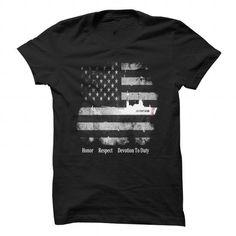 I Love Honor Respect Devotion To Duty US Coast Guard Cutter Shirt Shirts & Tees