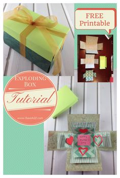 Check out our Exploding Box template and finish card box! This is an easy paper craft project that is fun to give and receive! Exploding Box Template, Exploding Box Card, Mothers Day Crafts, Crafts For Kids, Craft Gifts, Diy Gifts, Easy Paper Crafts, Love Messages, Craft Projects
