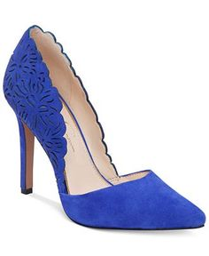 058f12b25aa Jessica Simpson Cassel Scalloped Pumps Shoes - Pumps - Macy s