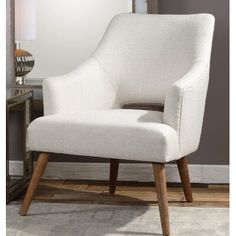 For an updated take on a retro style, the Uttermost Dree Retro Accent Chair is upholstered in neutral chenille fabric with a subtle woven argyle. Eames Chairs, Bar Chairs, Pink Chairs, White Chairs, Lounge Chairs, Club Chairs, Room Chairs, Dining Chairs, Wood Frame Construction
