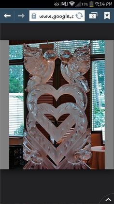 What a beautiful wedding ice sculpture. So, you've decided to add an ice sculpture to your wedding decor. An ice sculpture is a elegant, eye-catching work of art. Snow And Ice, Fire And Ice, Bronze Sculpture, Wood Sculpture, Sculpture Ideas, Abstract Sculpture, Ice Sculpture Wedding, Ice Luge, Snow Sculptures