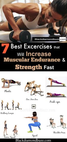 Exercises for Muscular Endurance - 7 Best Workouts that will Increase Stamina, Strength, and Endurance Fast. #fitness #muscle