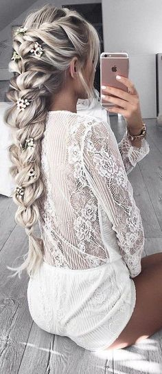#summer #hildeosland #outfits | White Lace Romper