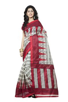 http://www.thatsend.com/shopping/lp/fvp/TESG229068/i/TE297668/iu/red-silk-casual-saree  Red Silk Casual Saree Apparel Pattern Printed. Work Print. Blouse Piece Yes. Occasion Festive, Sangeet. Top Color Red.