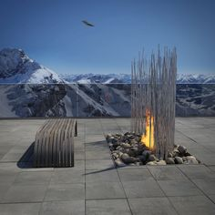 contemporary outdoor fireplace contemporary fireplace design ideas for modern outdoor seating areas contemporary outdoor gas fire pit Modern Outdoor Fireplace, Outdoor Fireplace Designs, Outdoor Living, Modern Fireplaces, Indoor Fireplaces, Fireplaces Glasgow, Outdoor Patios, Outdoor Rooms, Landscape Design