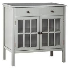 Windham Two-Door with drawers Storage Cabinet Green Garnish - Threshold™…