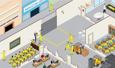 Occupational Safety Illustrations by Pictorama , via Behance