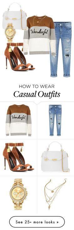 """Casual Cutie"" by stylesbymonte on Polyvore featuring Tom Ford, River Island, Versace and Mestige"