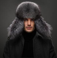 13df538aa0c Circumference 60cm Men Fur Russian Hat Trapper Ushanka Cossack Warm Furry  Cap  fashion  clothing