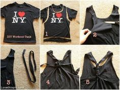 DIY Workout Tanktop workout diy diy craft easy crafts diy ideas diy crafts do it yourself easy diy easy crafts diy tips craft clothes diy clothes craft shirt diy shirt diy ideas craft ideas