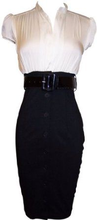 Satin Top Dress w/Belted Black Pencil Skirt | Dog Show Board ...