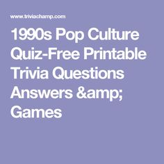 Fun Printable Trivia Questions For Quiz Nights And Parties