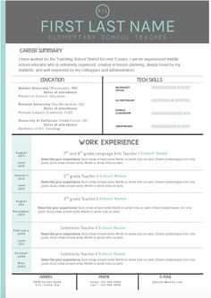 Mint And Gray Cover Letter And Resume Templates. Make Your Cover Letter And  Resume Pop  Editable Resume Templates